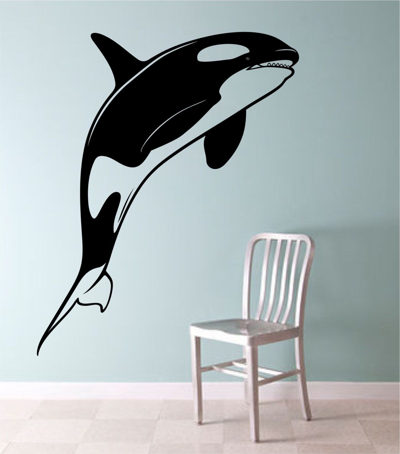 orca whale killer whale vinyl wall decal sticker art decor bedroom orca whale killer whale vinyl wall decal sticker art decor bedroom design mural cute animal lover interior design