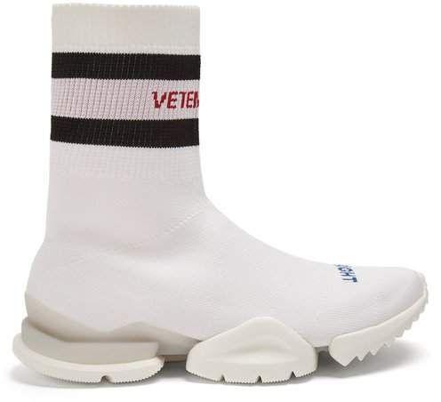 Vetements X Reebok White High Top Sock Sneaker