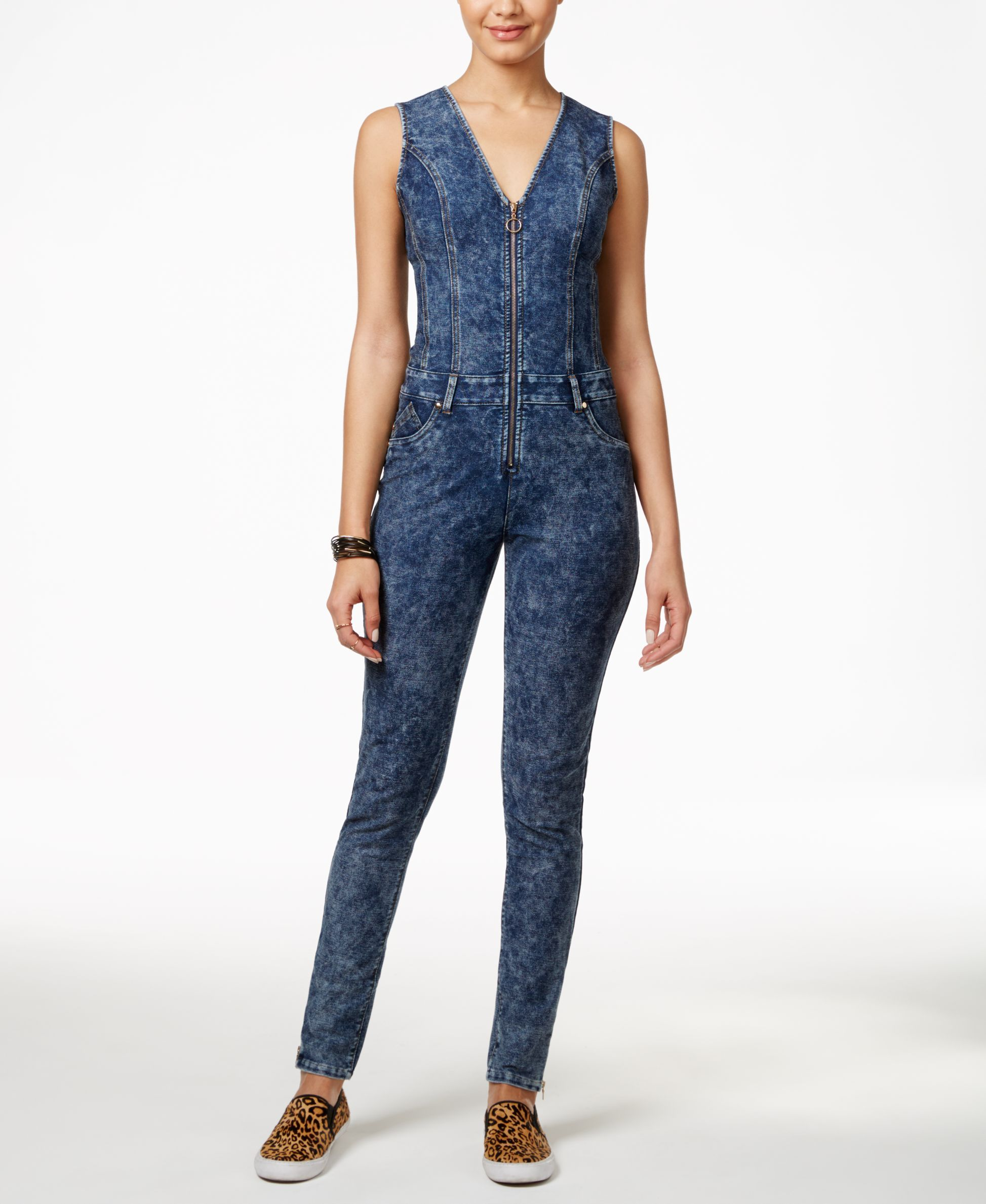 6de497a78225 Marilyn Monroe Juniors  Sleeveless Denim Jumpsuit