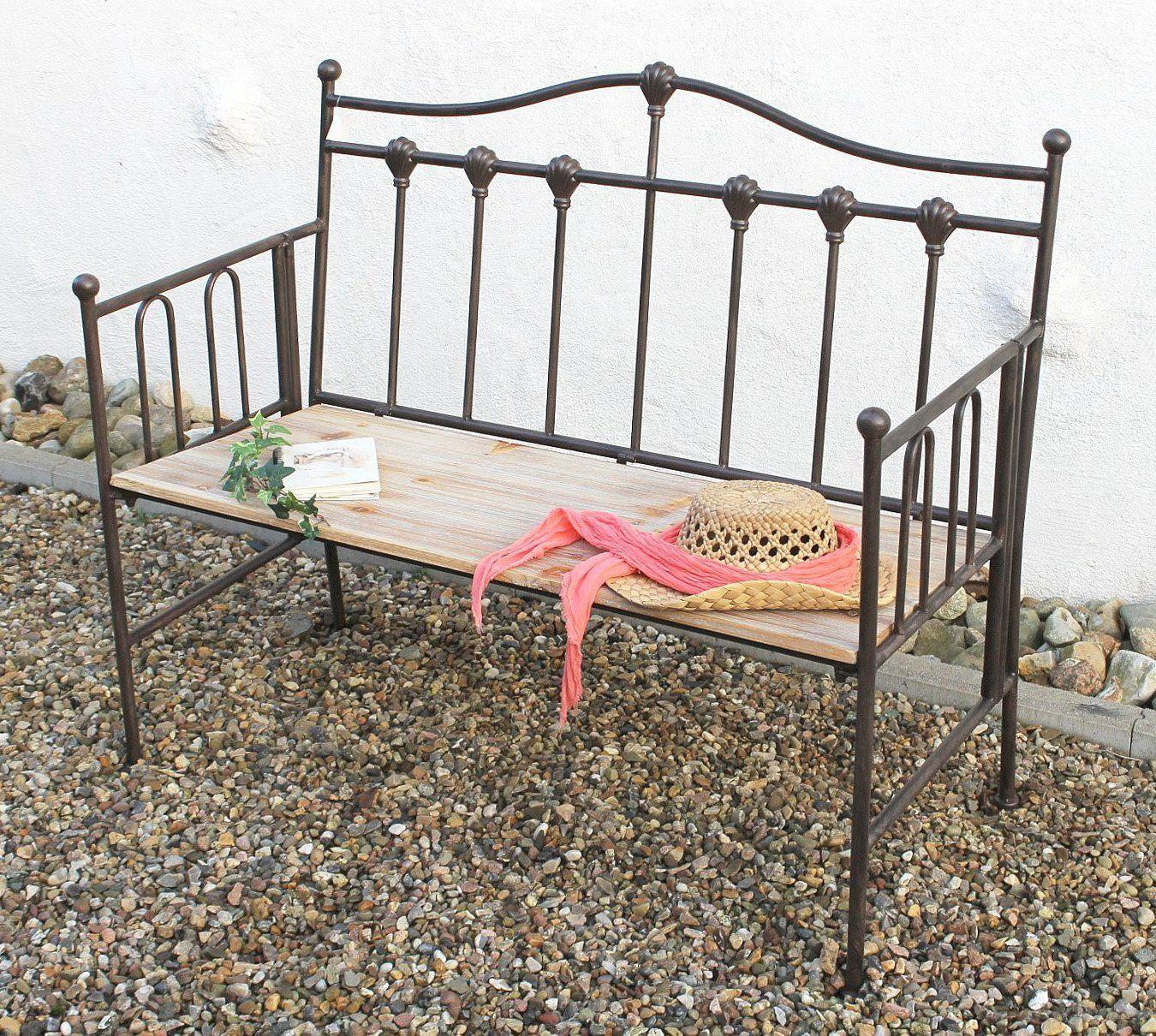 Gartenbank Metall Holz Antik Schmiedeeisen Sitzbank Metal Bench Outdoor Decor Home Decor