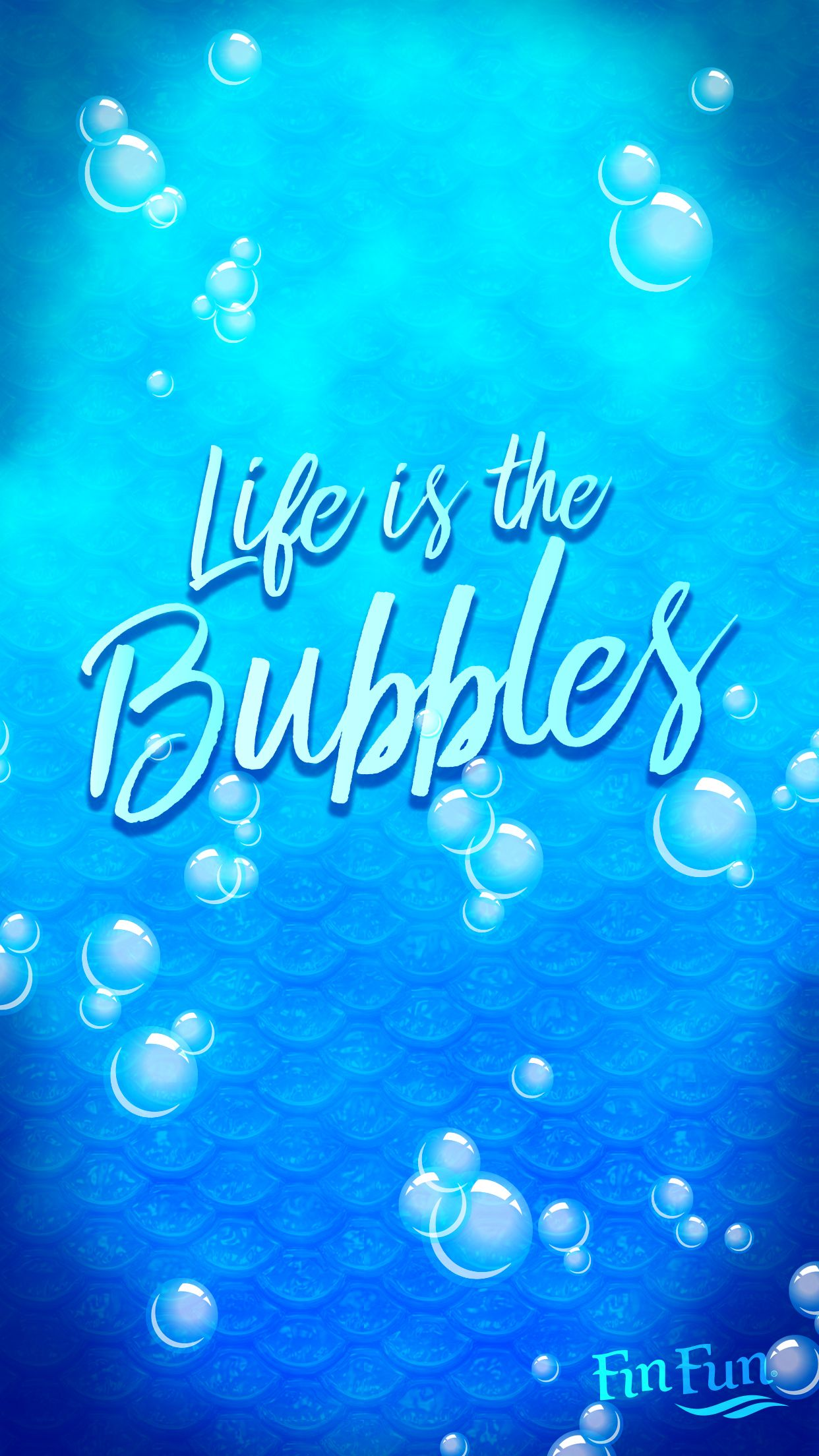 """Life is in the bubbles"" mermaid wallpaper for your phone"