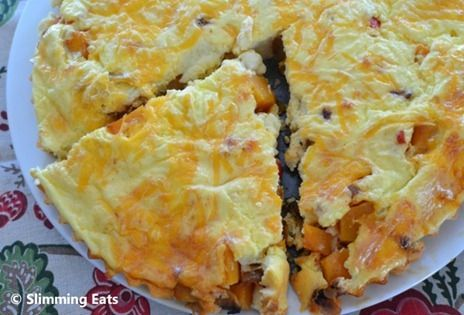 Butternut Squash and Red Pepper Quiche   Slimming Eats - Slimming World Recipes