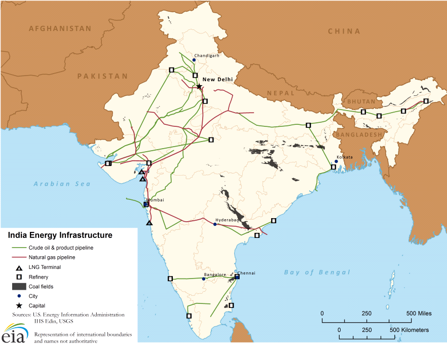 SimpleRNA India Oil And Gas Pipeline Map Energy Pinterest - Coal Natural Gas And Oil Map Us