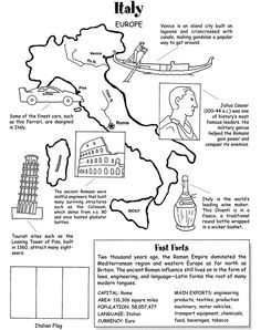 italy coloring pages for kids   Starting to make the kids' travel folders for this summer ...