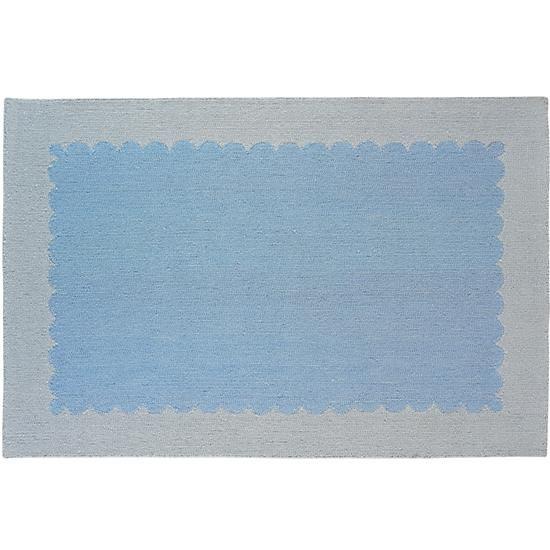 Kids' Rugs: Kids Blue Frame Wool Rug | The Land of Nod