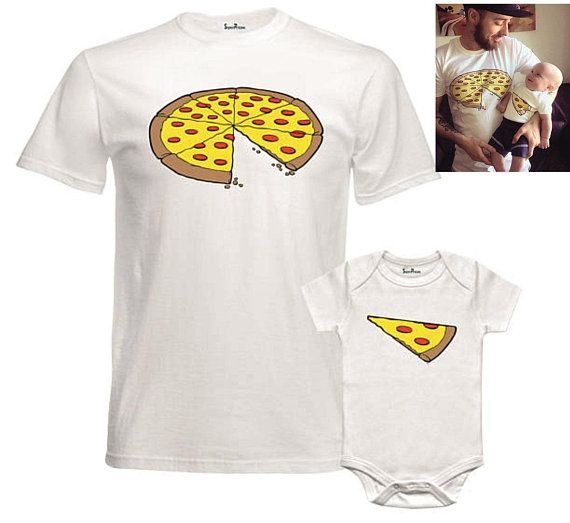Pizza Slice Dad Son Matching Shirts Family Outfits Whole