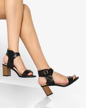 6f819cefae AJIO - Ankle Strap Block Heels   Shoes   Ankle strap block heel ...