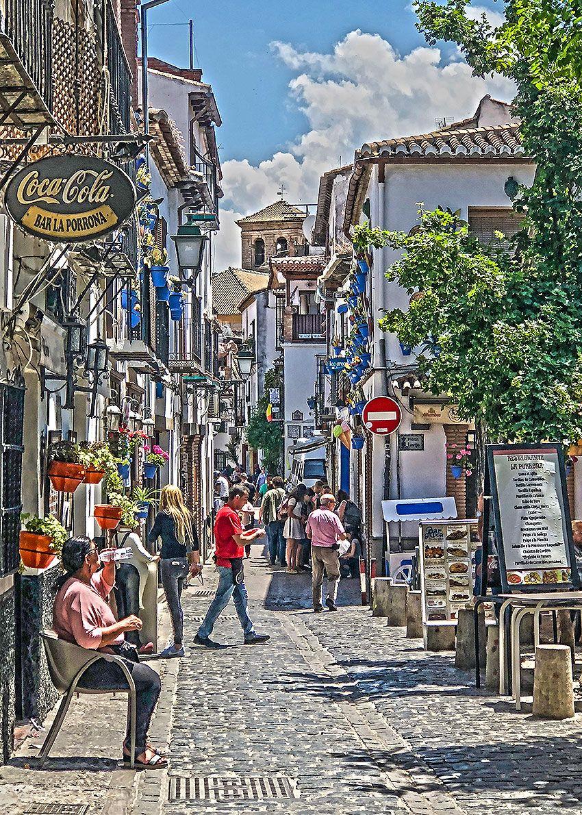 Plaza Larga, Granada | Photos | Granada, Street view, Street