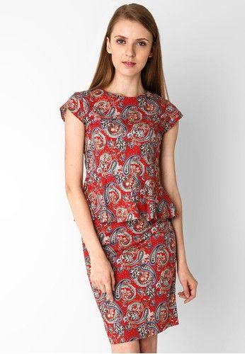 Model Baju Batik Kerja Wanita Modern Merah  Model Busana