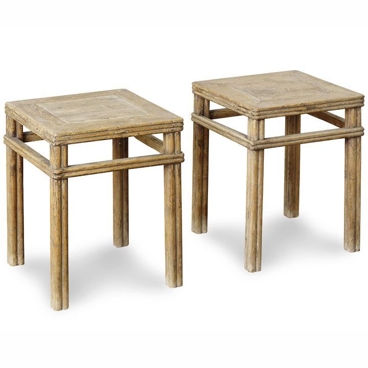 Pair of Elm Stools