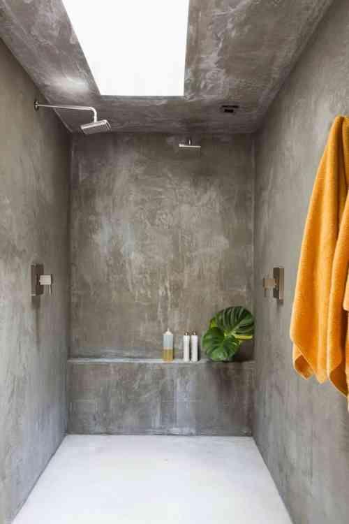 salle de bain en béton ciré pour un aménagement tendance | salle ... - Beton Mural Salle De Bain