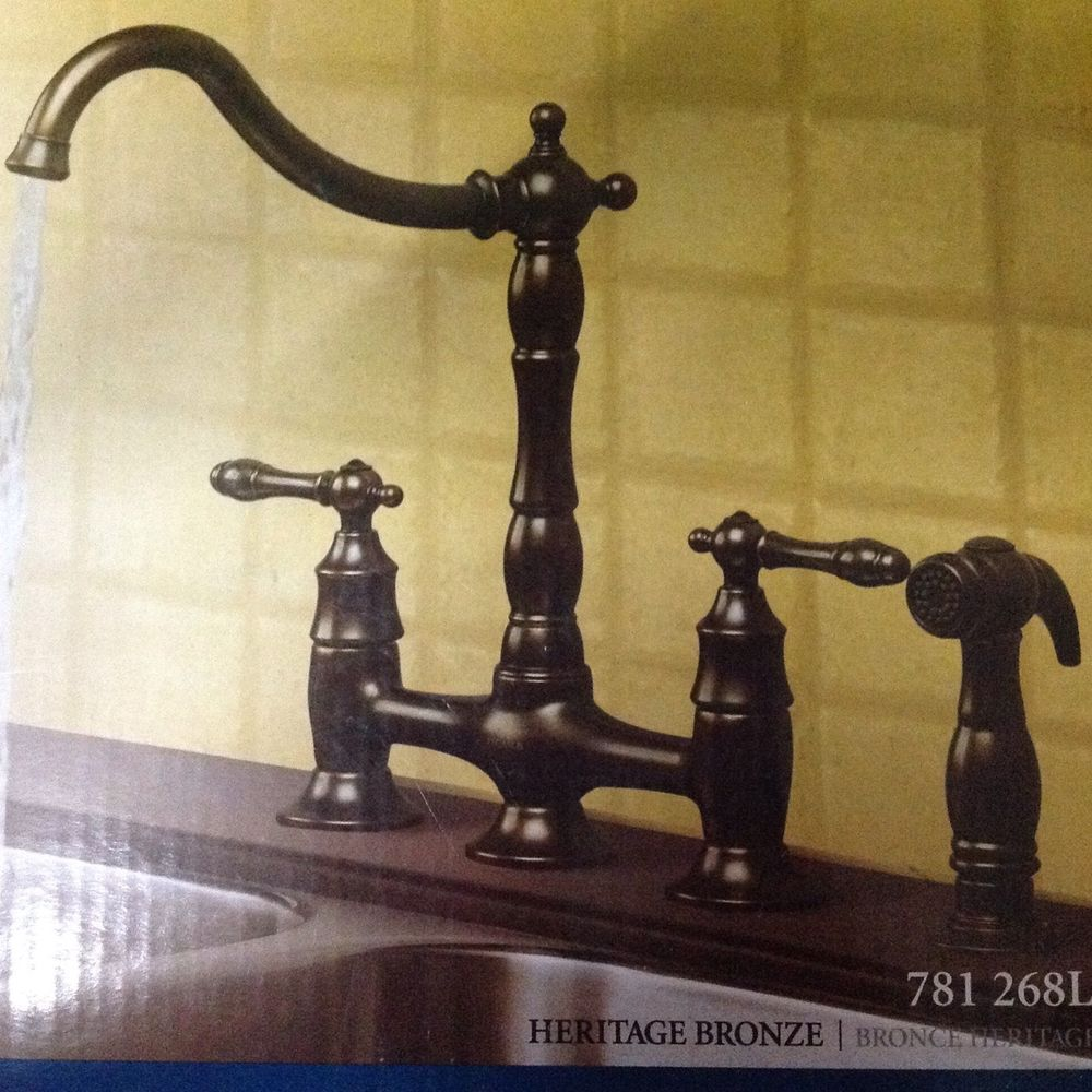 KITCHEN FAUCET PEGASUS 9000 CLASSIC BRIDGE IN HERITAGE BRONZE 781 ...