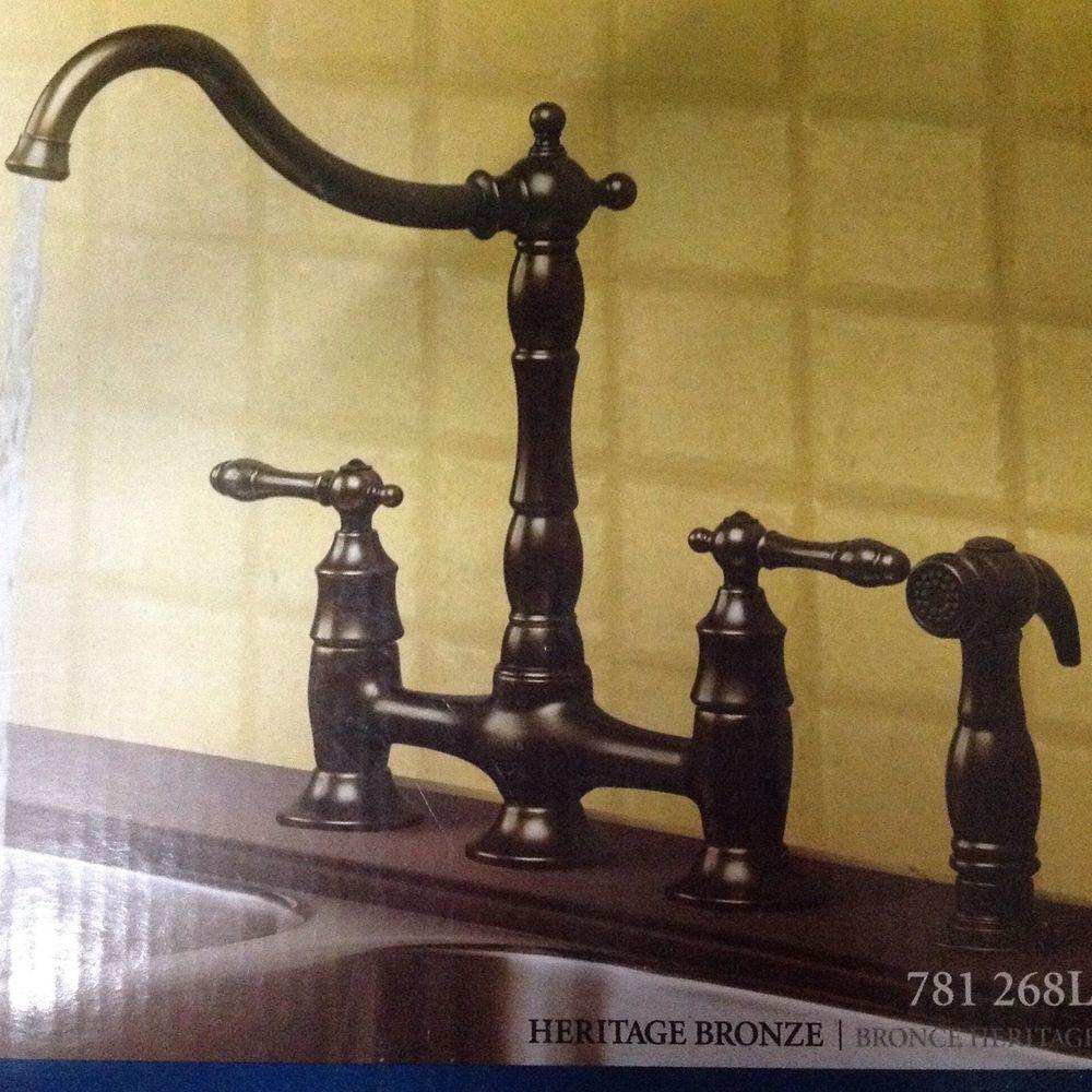 Kitchen Faucet Pegasus 9000 Classic Bridge In Heritage Bronze 781