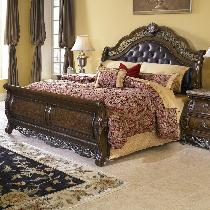 Josselyn Sleigh Bed Bed furniture set, Bedroom sets