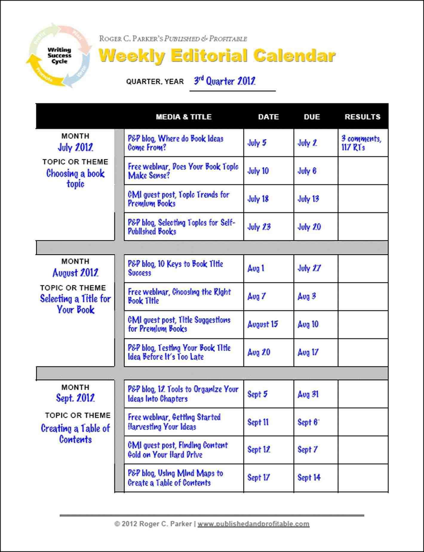 Snapwit Co Preschool And Newsletter Marketing Content Calendar