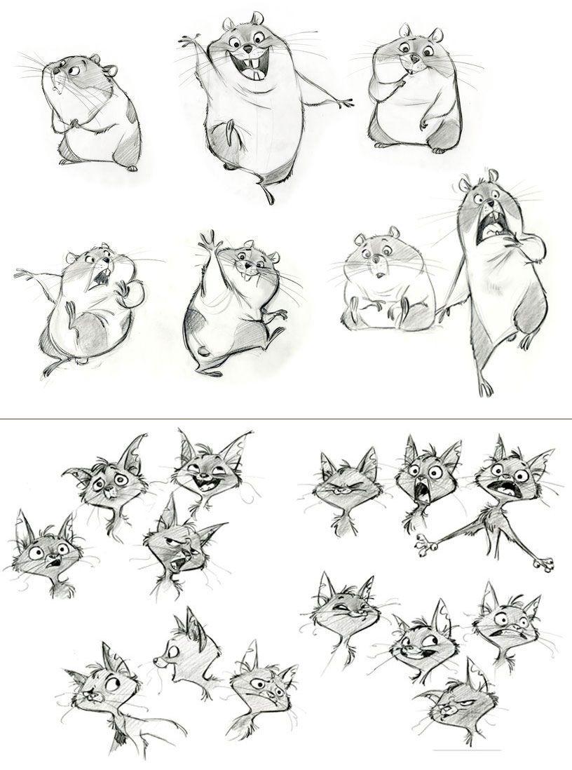 Character Designs For Bolt Disney Esbocos De Personagens