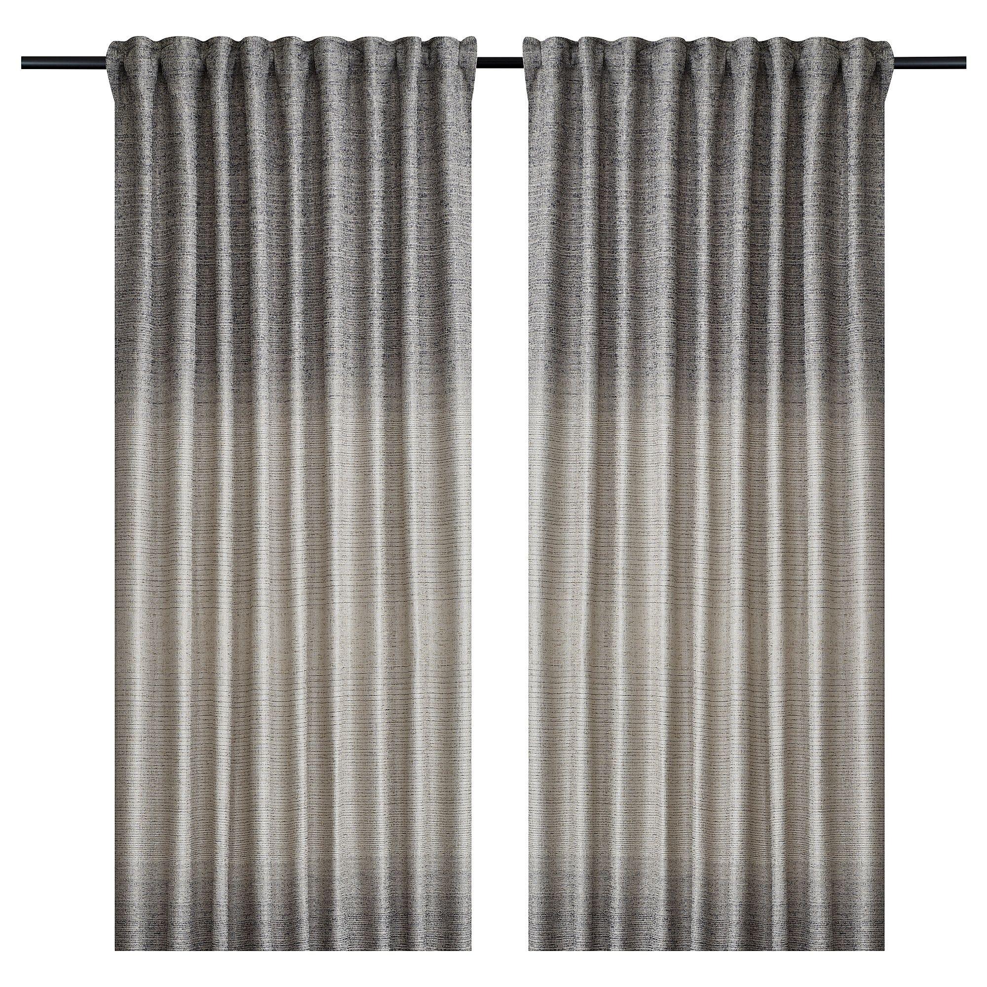 Bjarnhild Curtains 1 Pair Beige Ikea Curtains Curtain Hooks