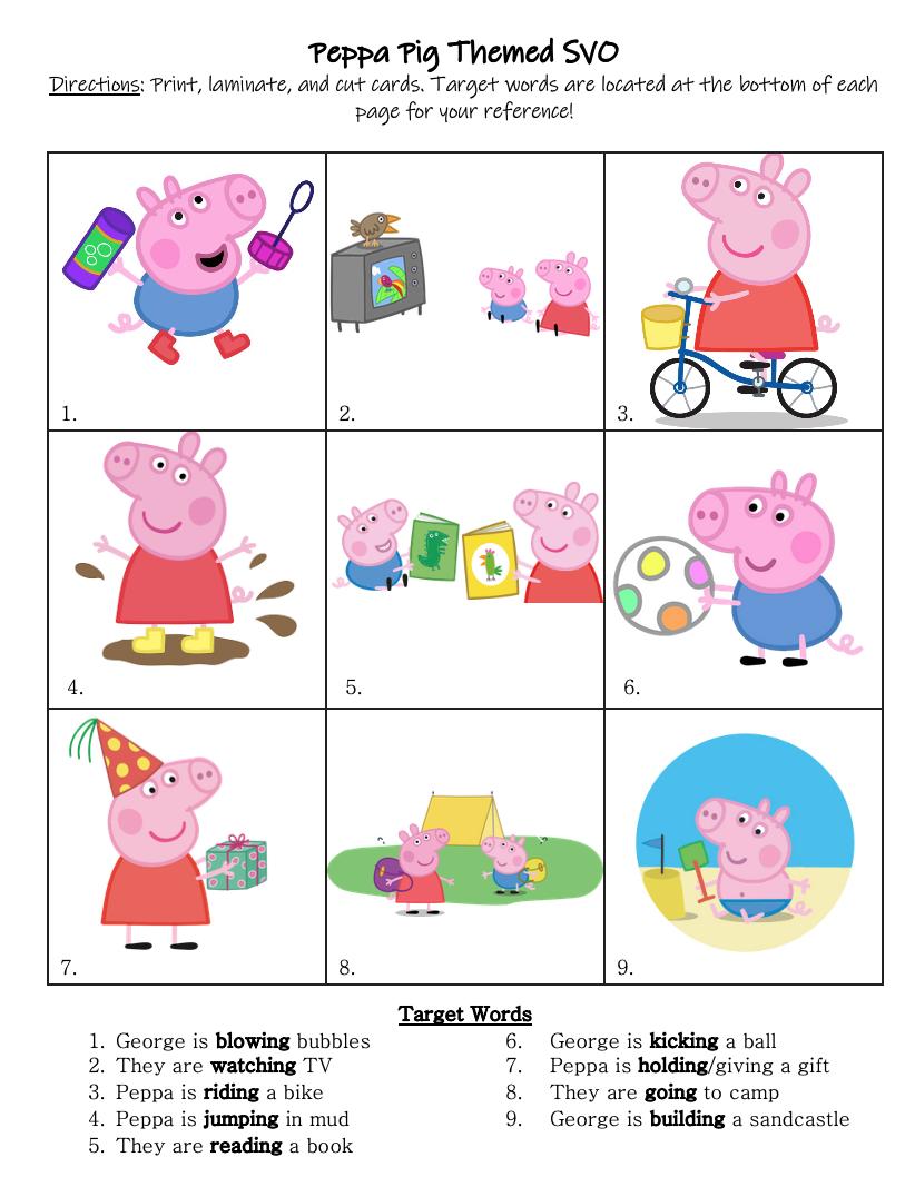 Peppa Pig Svo Preschool Science Activities Preschool Activities Peppa Pig [ 1058 x 822 Pixel ]