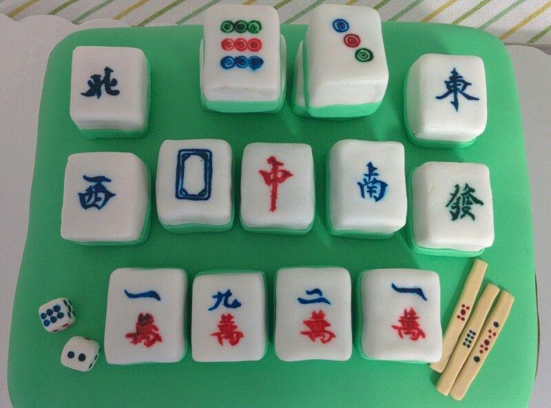 Mahjong Birthday Cake Sweets And Cakes Pinterest