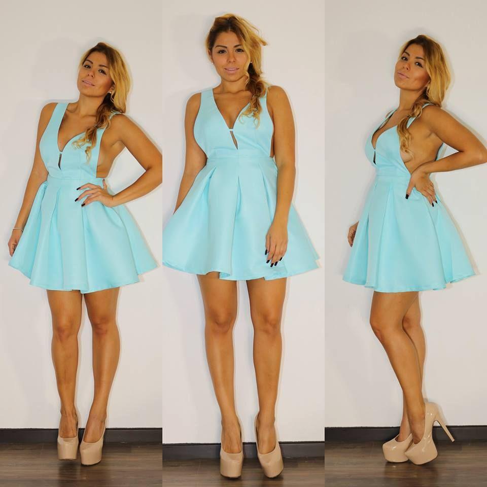 Vestido baby blue! $949 en Pink Flamingo! Av. Guadalupe 1390 Col ...