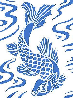 Koi stencil beautiful decorations pinterest for Koi fish patterns