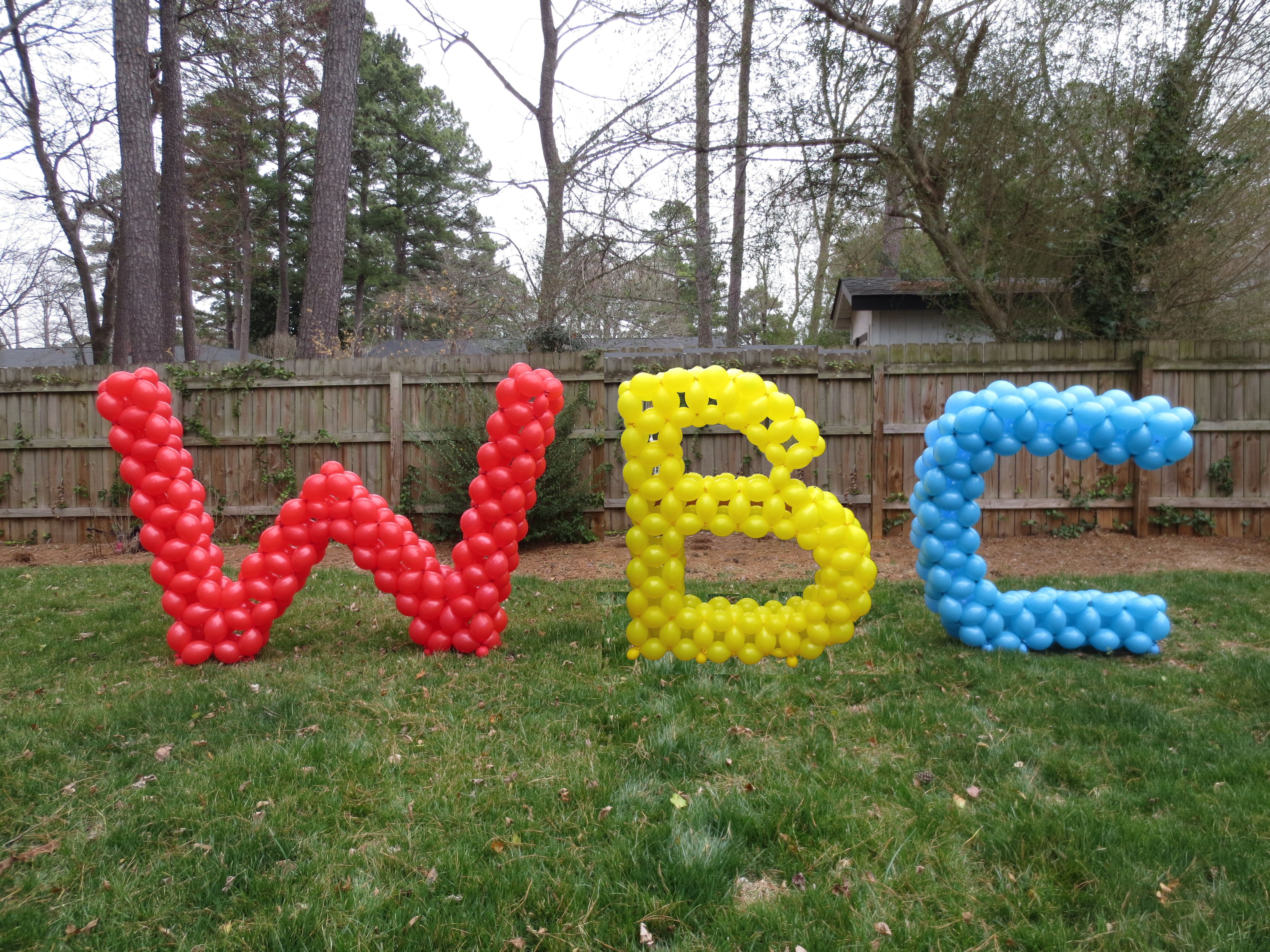 5ft Letters made from balloons Original design
