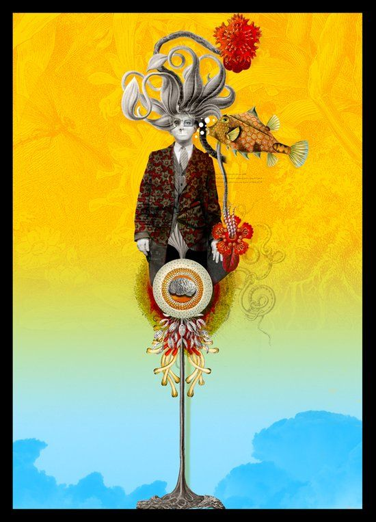 surreal posters by Georges Bousquet
