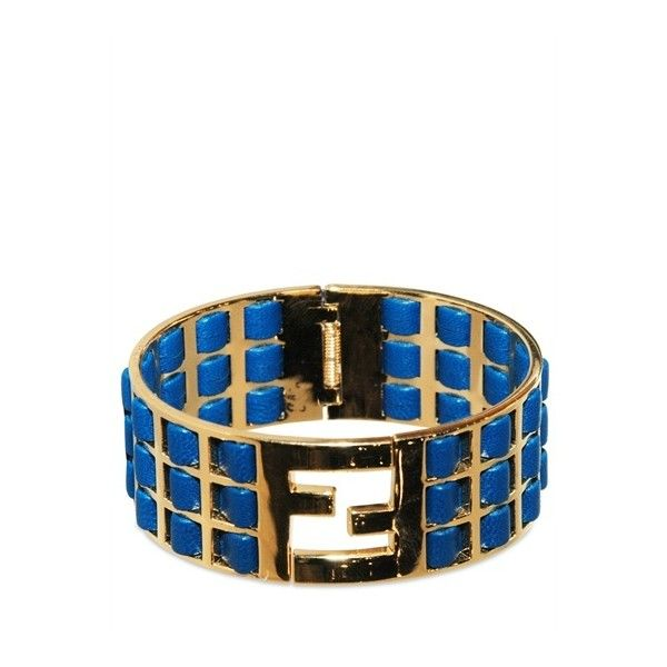 Fendi Woven Calfskin Laque Bracelet ($435) ❤ liked on Polyvore