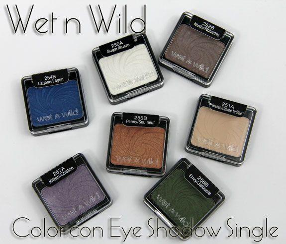 Wet N Wild Eyeshadows Wet N Wild Coloricon Eye Shadow Singles Swatches Review Eyeshadow Wet N Wild Grey Eyeshadow