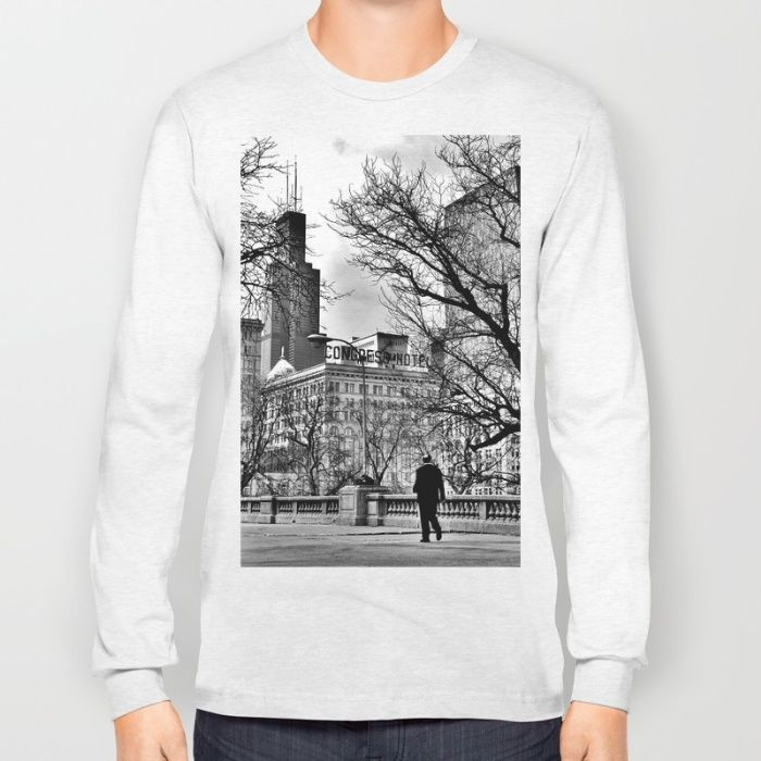 Last Man in Chicago Long Sleeve T-shirt by Kevin Atkinson   Society6