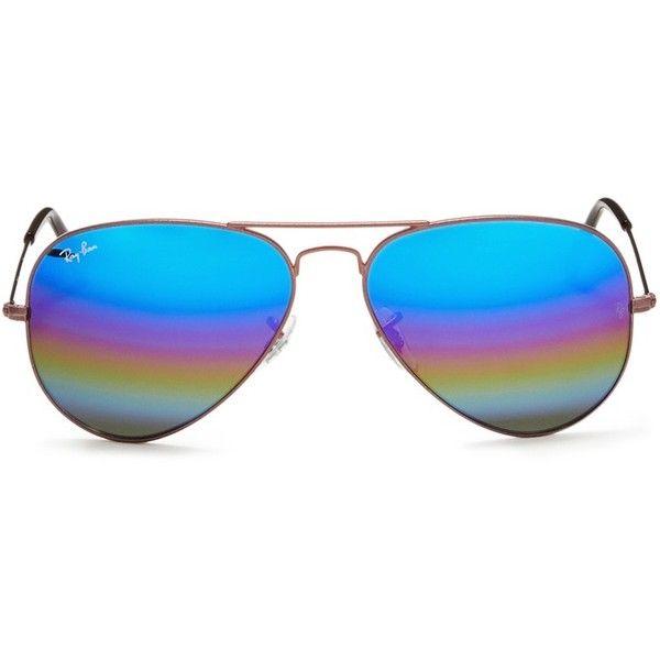 Ray-Ban \'Aviator Large Metal\' glitter mirror sunglasses ($200 ...