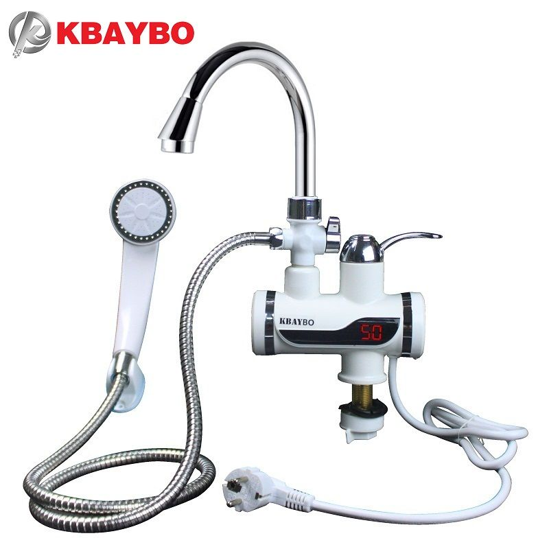3000W Water Heater Bathroom   Kitchen instant electric water heater tap LCD  temperature display Tankless faucet 30f67f7d1