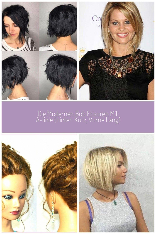 Die modernen Bob Frisuren mit A-Linie (hinten kurz, vorne lang