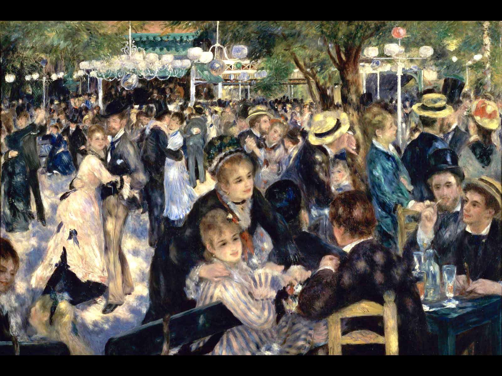 Ball At The Moulin De La Galette By Pierre Auguste Renoir Renoir