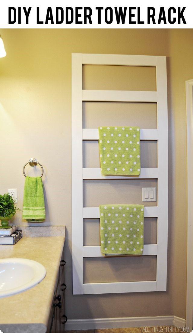 DIY Towel Rack and Manly help! | Ladder towel racks, Towels and Diy ...