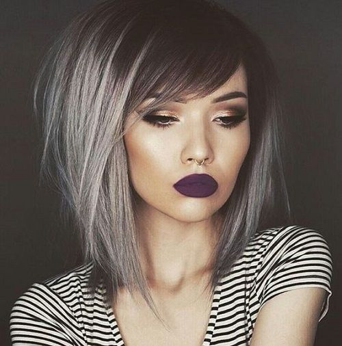 Side Bangs With Silver Lowlights Hair Pinterest Hair Styles