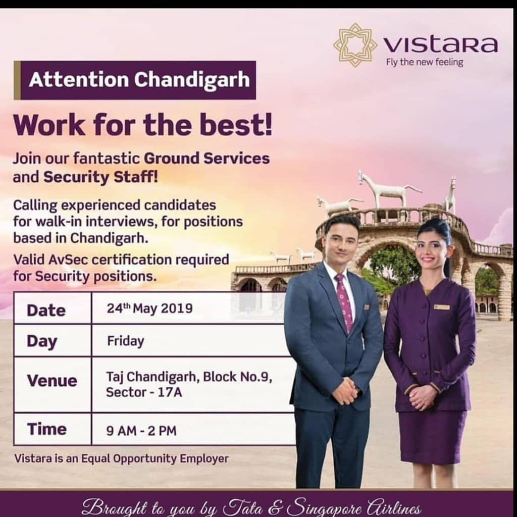 Vistara Hiring Groundservice And Experience Security Executive Download Map Aviaton App For Many More Other Cabin Crew Interviews Https Play Google Com Stor