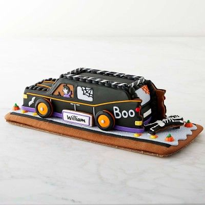 Personalized Halloween Gingerbread Car Cookie #williamssonoma - halloween decorations for your car