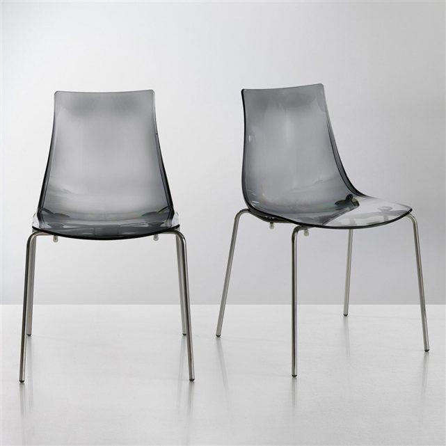 chaise design coque translucide lot de 2 joan la redoute interieurs assises chaises. Black Bedroom Furniture Sets. Home Design Ideas