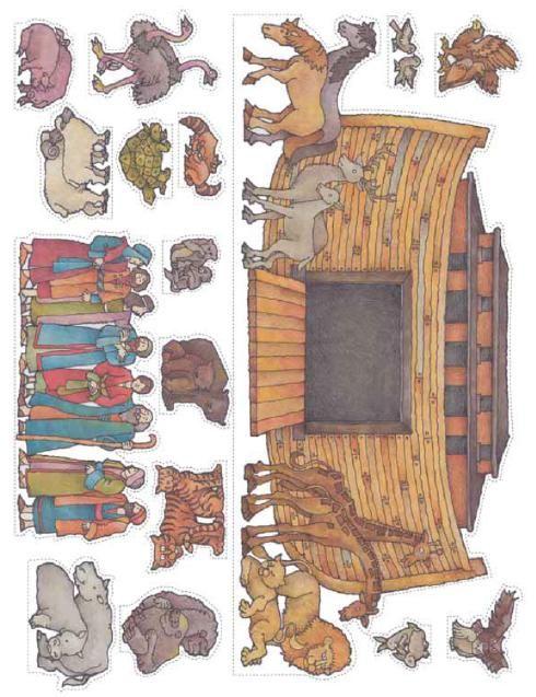 Noah's Ark (character cutouts) | Primary | Biblia para niños