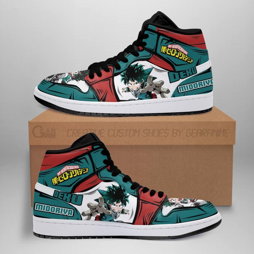 Deku Izuku Jordan Sneakers Custom My Hero Academia