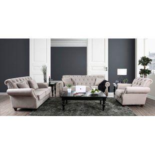 best place to buy warkworth modern 3 piece living room set canora rh pinterest com