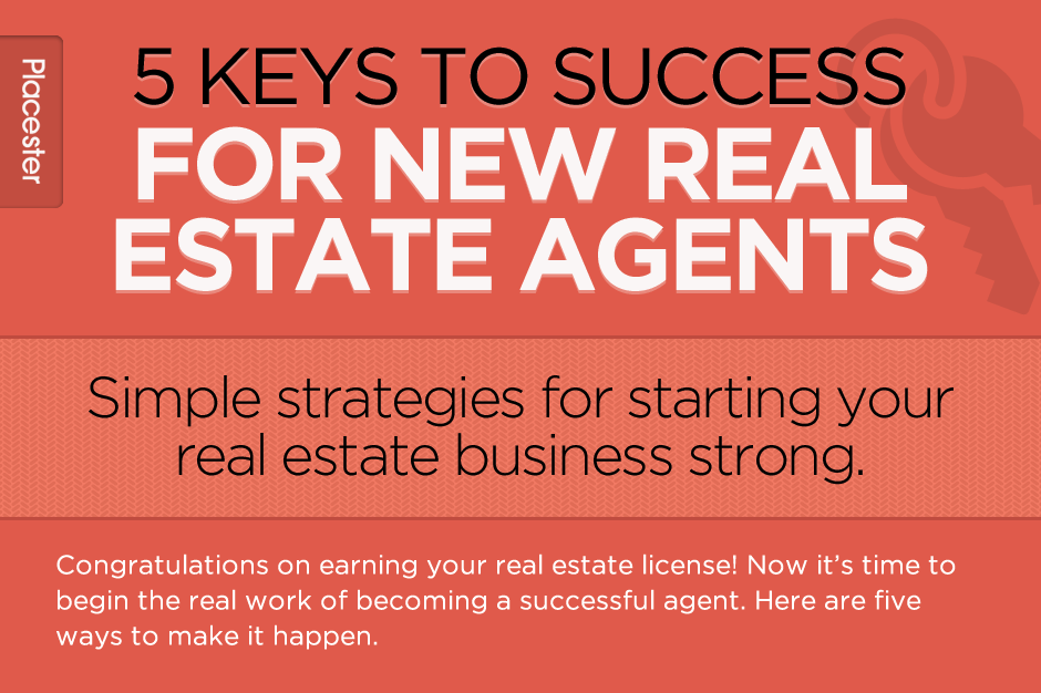 Infographic 5 Keys To Success For New Real Estate Agents Real Estate License Real Estate Infographic Real Estate School