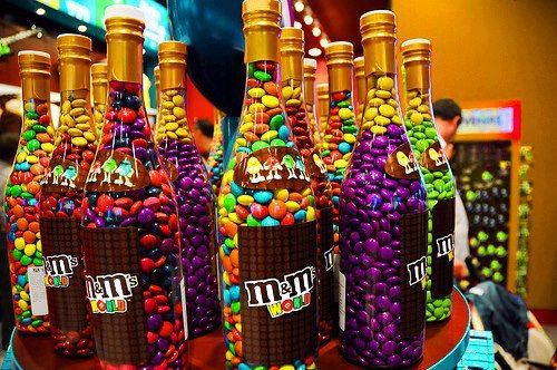 m m's bottle.  I want one of this or maybe thousands!! :D