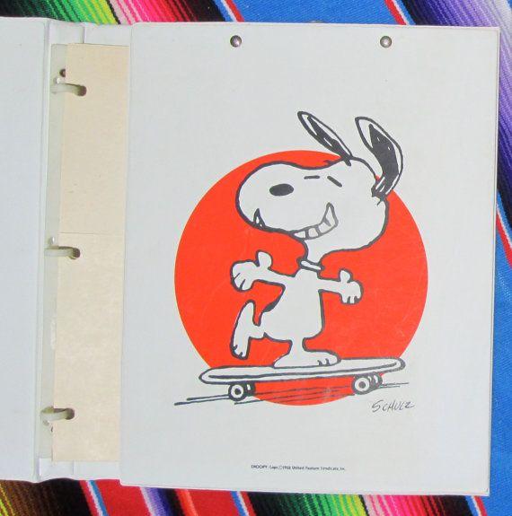 1965 SNOOPY NOTEBOOK Tri Fold W/ Dividers U0026 By Nutmegvintage. School  SuppliesOffice ...