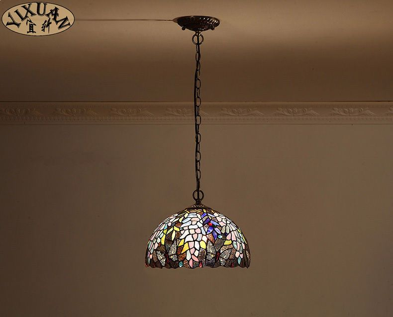 Tiffany Style Flowers Pattern Stained Gl Pendant E27 Light Ceiling Lamp