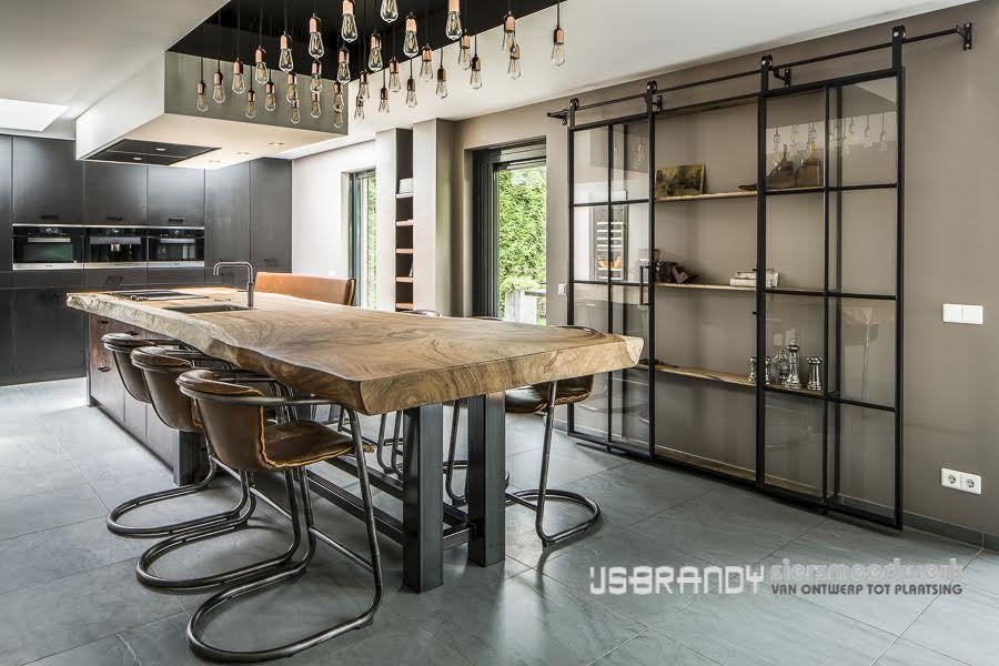 Industri le deuren industri le ramen en deuren ideas for the house pinterest industrieel - Metaal schorsing en glazen ...