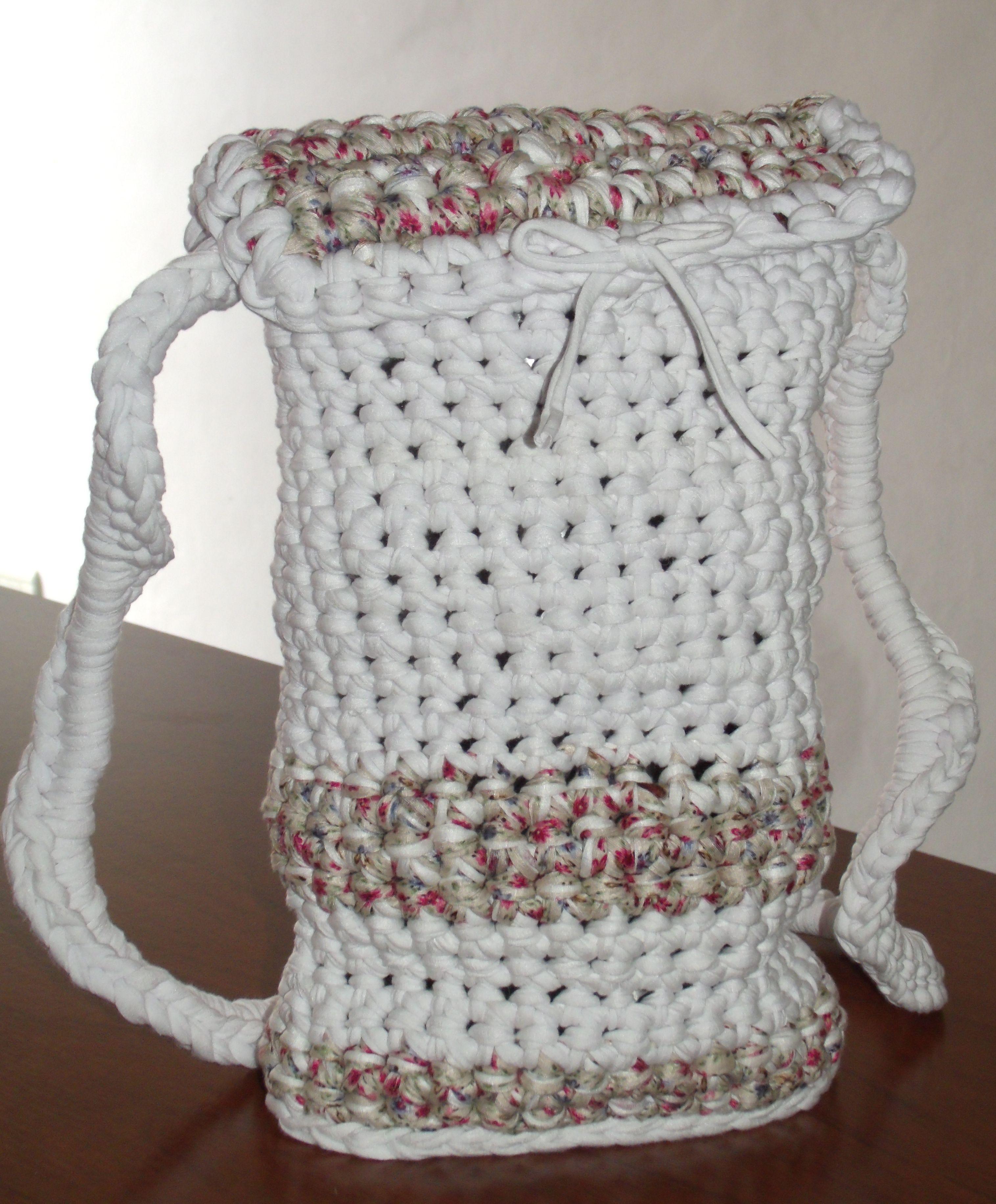 Bolso matero tejido al crochet con totora | crochet | Pinterest ...