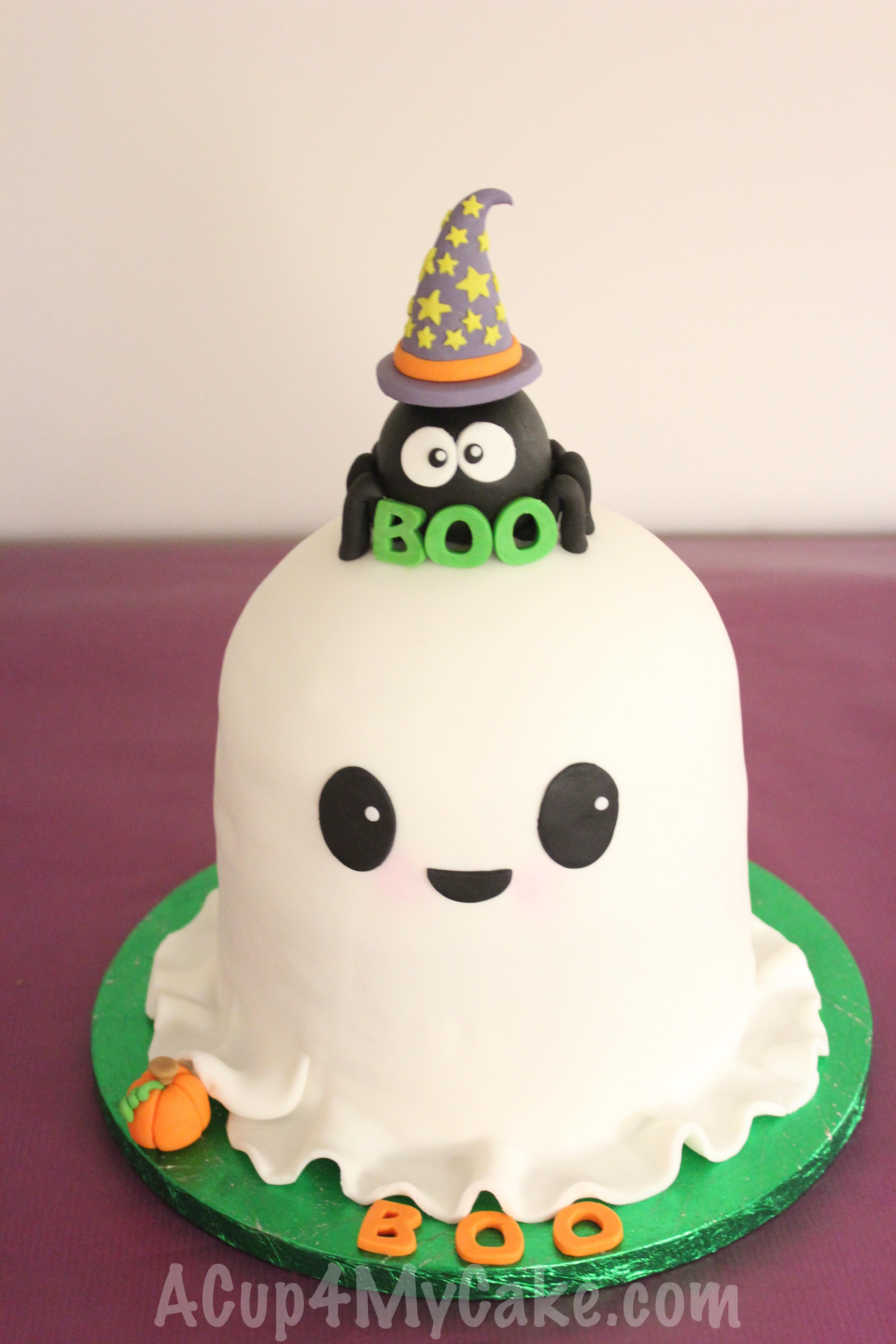 Halloween Ghost Cake With Images Ghost Cake