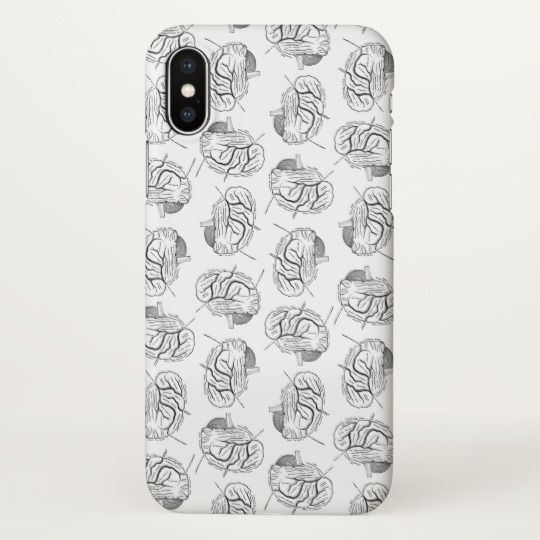 Brain Diagrams Pattern Antique Medical Themed Iphone X